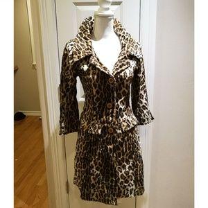 John Carlisle Leopard Print Coat #068